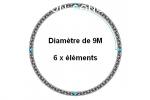 CERCLE 9M DIAMETRE  en 6 ELEMENTS X30D